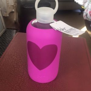 Bkr water bottle pink heart new with tags